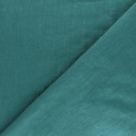 Tissu lin lavé (laize: 135cm) - bleu paon x 10cm