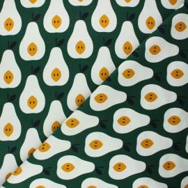Tissu velours milleraies Cloud9 A walk remembered - Juicy pears x 10cm