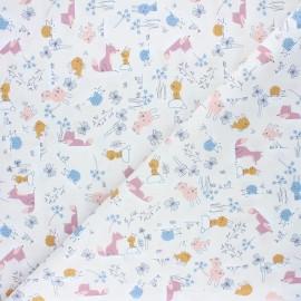 Baby cot retonne cotton fabric - purple Volpi x 10 cm