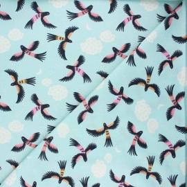 Cloud 9 cotton fabric - Tropical garden - Parrot play x 10 cm
