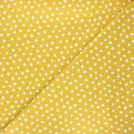 Tissu jersey Cloud 9 Knits Dots - jaune curry x 10cm