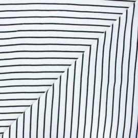 Tissu jersey Cloud 9 Knits Stripes - blanc x 10cm
