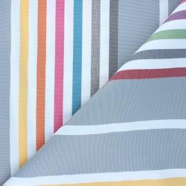 Outdoor canvas fabric - grey Summer x 10cm