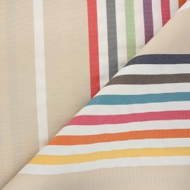 Outdoor canvas fabric - beige Summer x 10cm