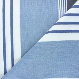 Tissu toile extérieur Farniente - bleu x 10cm