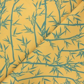 Outdoor canvas fabric - yellow Bambouseraie x 10cm