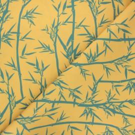 Tissu toile extérieur Bambouseraie - jaune x 10cm