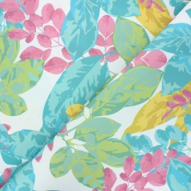 Outdoor canvas fabric - white Nature pop x 10cm