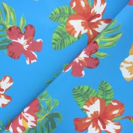 Tissu toile extérieur Petite île - bleu x 10cm