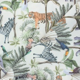 Outdoor canvas fabric - raw Savane boisée x 10cm