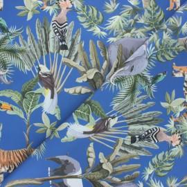 Outdoor canvas fabric - blue Savane boisée x 10cm
