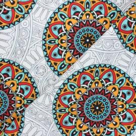 Outdoor canvas fabric - white Mandala lover x 10cm