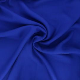 Tissu crêpe de viscose uni - bleu royal x 10cm