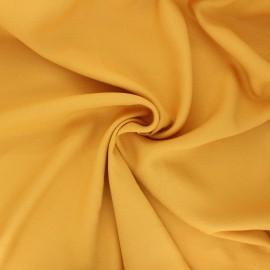 Tissu crêpe de viscose uni - jaune soleil x 10cm