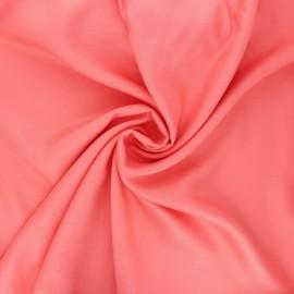 Tissu sergé de viscose Uni - corail x 10cm