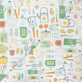 Cotton Dashwood Studio fabric - Cooking Hobbies x 10cm