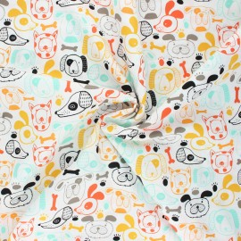 AGF poplin cotton fabric - Oh, Woof! - Woof this way x 10cm