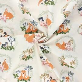 Tissu popeline de coton AGF Lilliput - Forest friends x 10cm