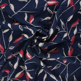 Viscose crepe fabric - atlantic blue Avena x 10cm