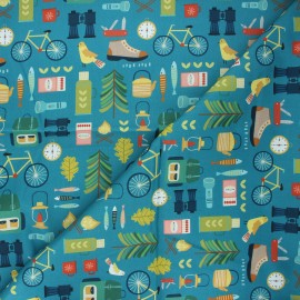Cotton Dashwood Studio fabric - Great outdoors Hobbies x 10cm