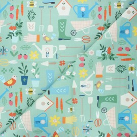 Cotton Dashwood Studio fabric - Gardening Hobbies x 10cm