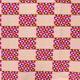 Tissu Wax à paillettes Sawila - rose x 10cm