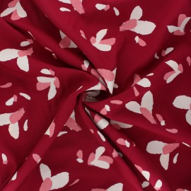 Viscose fabric - red grenade x 10cm