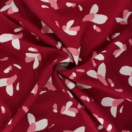 Viscose fabric - red grenade x 10cm