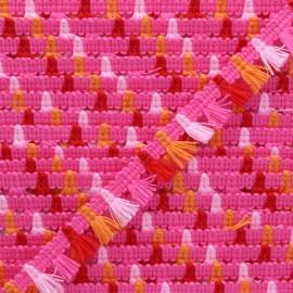 Galon mini pompon Almería 15 mm - rose x 1m