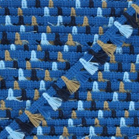 15 mm pompom trimming - blue Almería x 1m