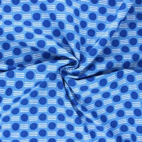 Tissu coton Cotton Steel Feel the void - Atomic - bleu x 10cm