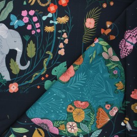 Cotton Dashwood Studio panel fabric - Fantasia Our planet x 77cm