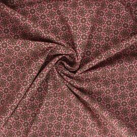 Tissu popeline de coton Flower bow - rose clair x 10cm