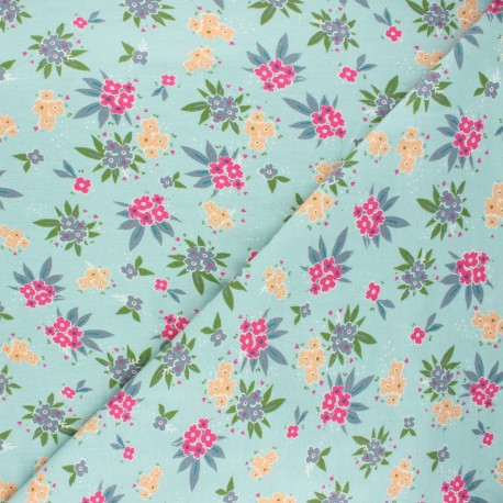 AGF Jersey fabric Open heart - green Cheerished gatherings x 10cm
