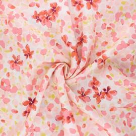 Tissu rayonne AGF Velvet - Jasmine afresh x 10cm