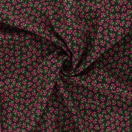 Tissu rayonne AGF Open heart - Sweet floret cerise x 10cm