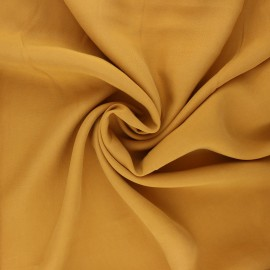Plain Tencel fabric - ochre Rozan x 10cm