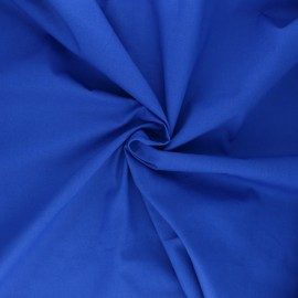 Satin poplin cotton fabric - royal blue Alix x 10cm