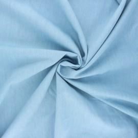 Tissu coton chambray Debra - bleu ciel x 10cm