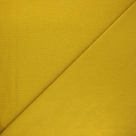 Jersey tubulaire bord-côte Robin - jaune moutarde x 10cm
