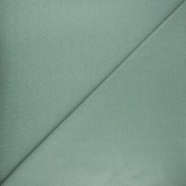 Jersey tubulaire bord-côte Robin - vert sauge x 10cm