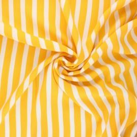 Tissu crêpe de viscose Aila - jaune x 10cm