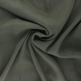 Crinkle viscose fabric - khaki green Fiona x 10cm