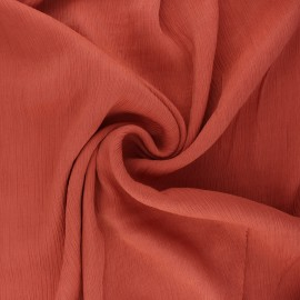 Tissu crépon de viscose Fiona - terracotta x 10cm