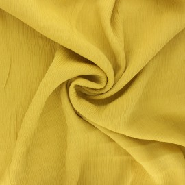 Crinkle viscose fabric - yellow Fiona x 10cm