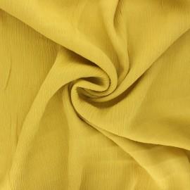 Tissu crépon de viscose Fiona - jaune x 10cm