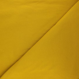 Sweatshirt fabric - curry yellow Vera x 10cm