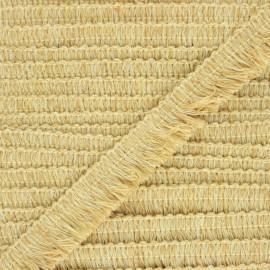 20 mm fringe trimming ribbon - mustard yellow Mallorca  x 1m