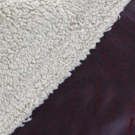 Reversible sheep fur - Grenat x 10cm