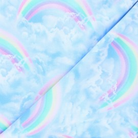 Tissu coton Timeless Treasures - In the sky - bleu x 10cm